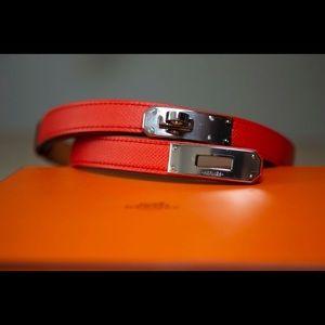 Hermès Red Kelly Epsom Belt